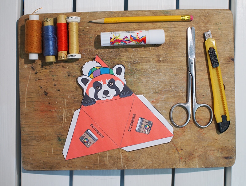photo of all the things needed for making paper toys