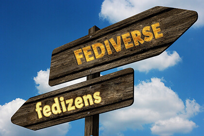 sign welcoming to Fediverse